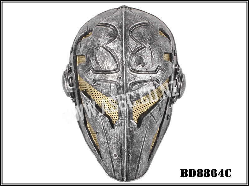 CM Wire Mesh Templar Mask - Yellow